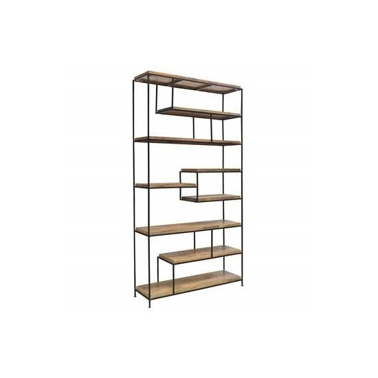 Crestview Collection Bengal Manor Offset Large Etagere Bookcase CRST-CVFNR518
