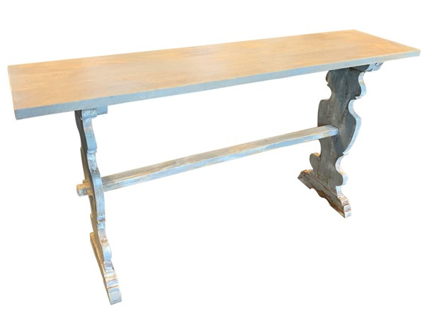 Crestview Collection Bengal Manor Distressed Grey Mango Wood Console Table CRST-CVFNR652