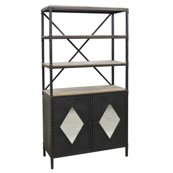 Crestview Collection Fallon Cabinet and Bookcase CRST-CVFNR753