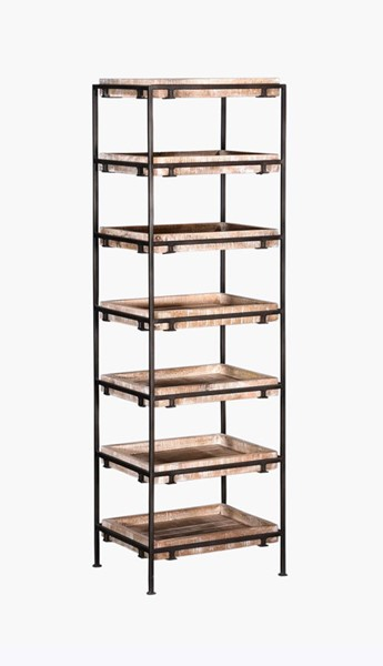 Crestview Collection Hannah Mango Wood Cube Bookcase CRST-CVFNR758