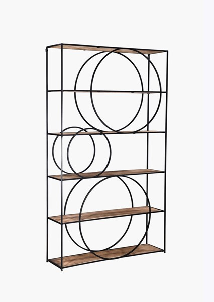 Crestview Collection Harmony Wood Etagere Bookcase CRST-CVFNR763
