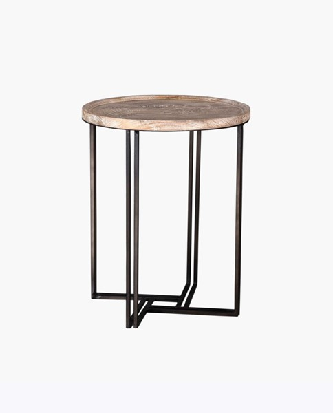 Crestview Collection Blake Round End Table CRST-CVFNR765