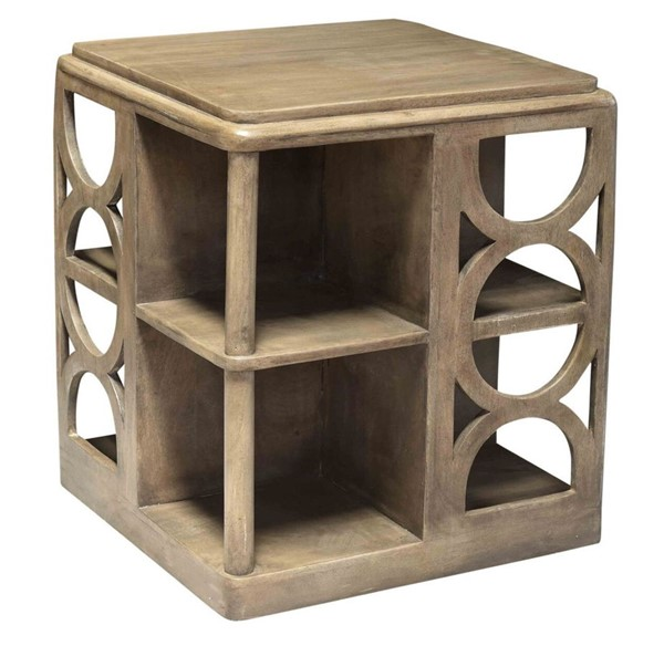 Crestview Collection Fletcher Grey Wood End Table CRST-CVFNR779