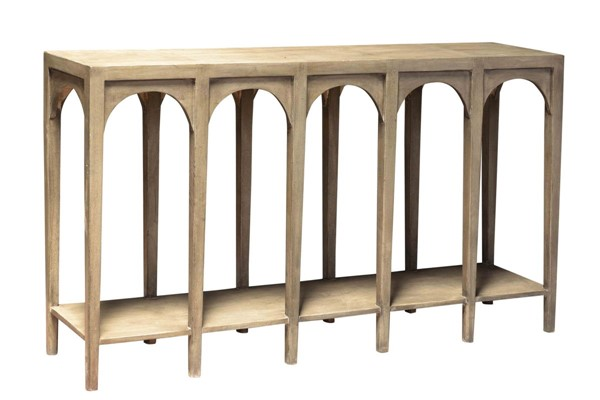 Crestview Collection Gotham Light Grey Arch Console Table CRST-CVFNR783