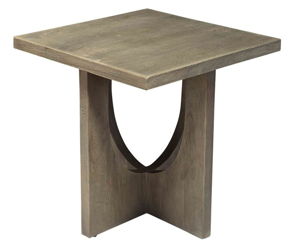 Crestview Collection Glenridge Charcoal Grey Square End Table CRST-CVFNR786
