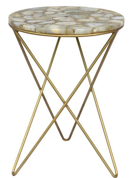 Crestview Collection Olivia Gold Side Table CRST-CVFNR835