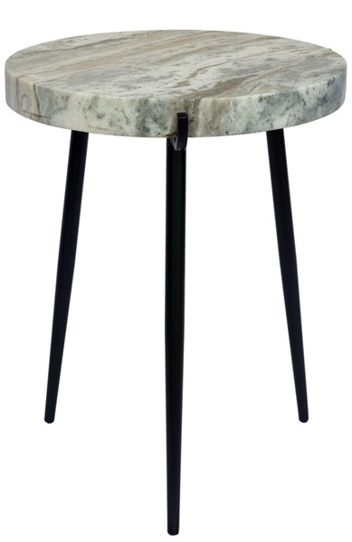 Crestview Collection Maxwell Black Light Grey Marble Side Table CRST-CVFNR839