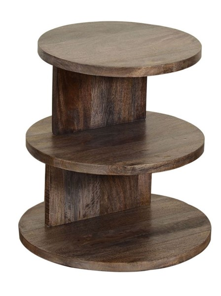 Crestview Collection Dempsey Wood Round Accent Table CRST-CVFNR849
