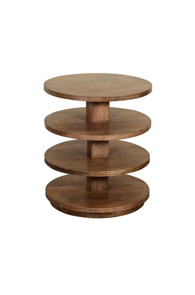 Crestview Collection Pearson Honey Round End Table CRST-CVFNR851