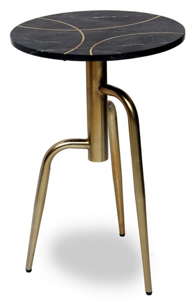 Crestview Collection Ava Black Gold Accent Table CRST-CVFNR861