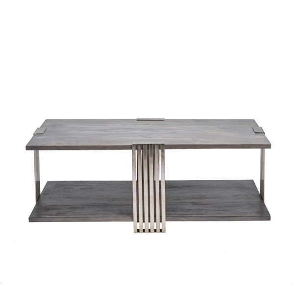 Crestview Collection Pleasant Hill Light Grey Cocktail Table CRST-CVFNR862