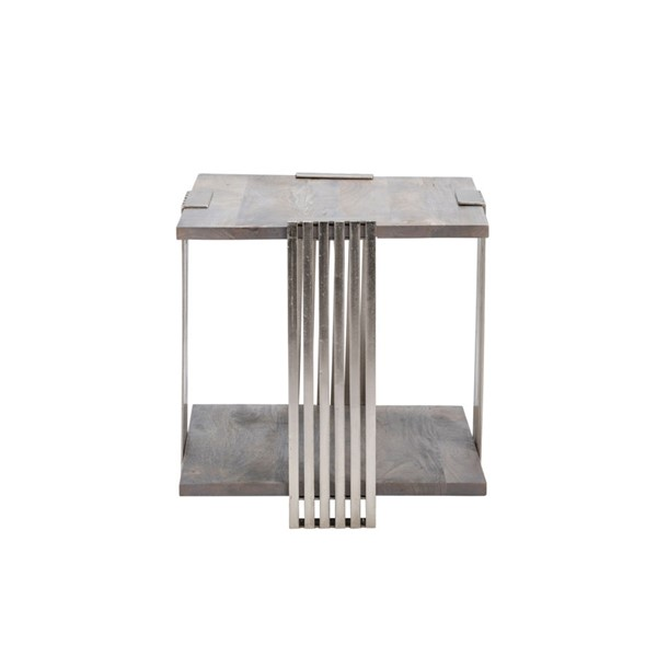 Crestview Collection Pleasant Hill Light Grey End Table CRST-CVFNR863