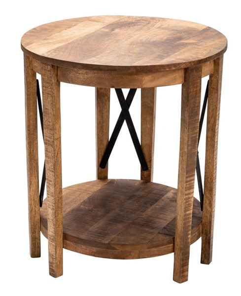Crestview Collection Sutton Creek Black Cross Metal End Table CRST-CVFNR870