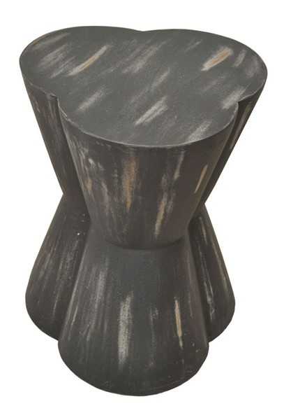 Crestview Collection Logan Distressed Black End Table CRST-CVFNR880