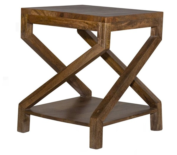 Crestview Collection Braden Brown Wood End Table CRST-CVFNR890