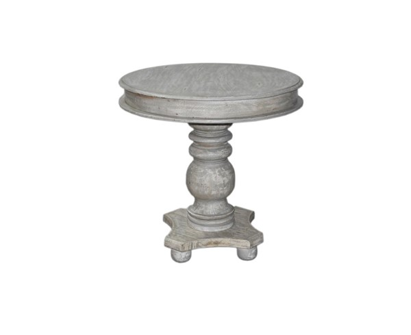 Crestview Collection Castleberry Distressed Grey Round Dining Table CRST-CVFNR892