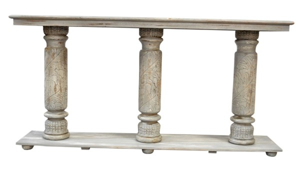Crestview Collection Castleberry Distressed Grey Console Table CRST-CVFNR896