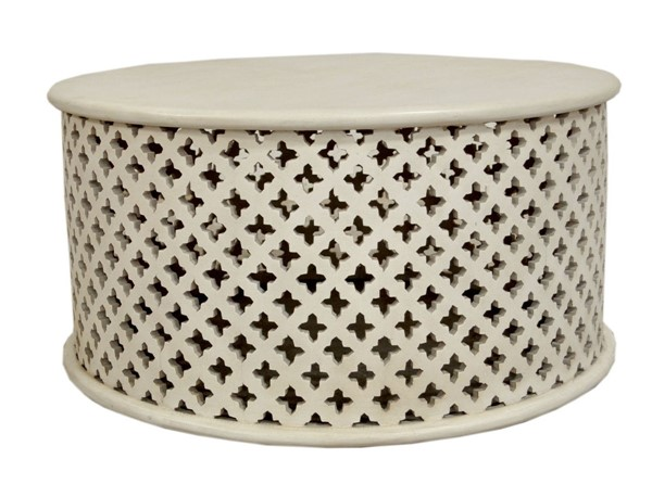 Crestview Collection Isabella White Round Cocktail Table CRST-CVFNR901