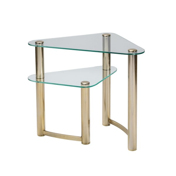 Crestview Collection Brighton Gold End Table CRST-CVFNR931
