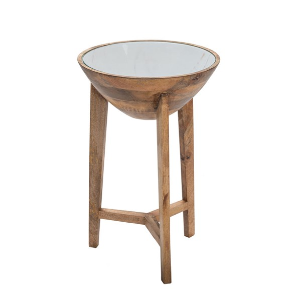 Crestview Collection Haley Enamel Top Side Table CRST-CVFNR934