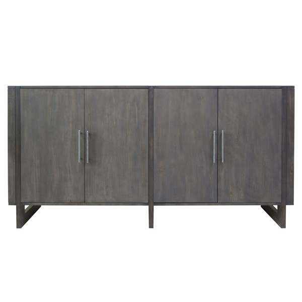Crestview Collection Hawthorne Estate Two Tone Grey 4 Doors Sideboard CRST-CVFVR8157