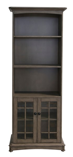Crestview Collection Willow Ash Grey Bookcase CRST-CVFVR8201