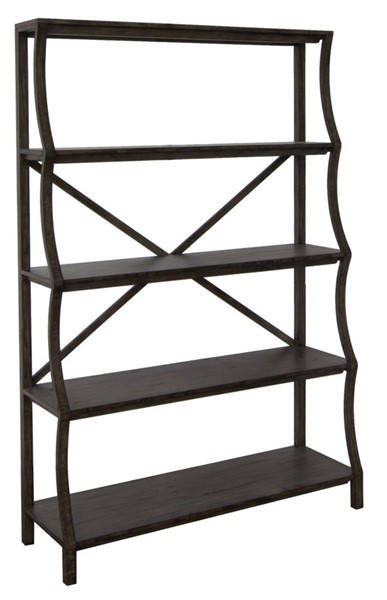 Crestview Collection Falls Creek Distressed Pine Acacia Wood Bookcase CRST-CVFVR8207