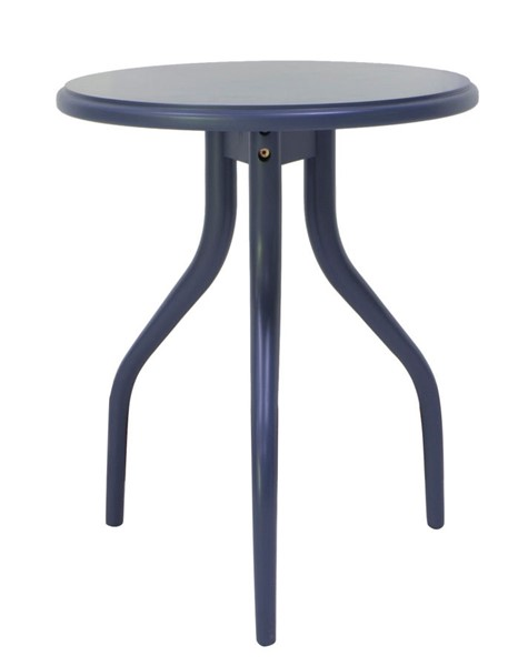Crestview Collection Grand Bay Navy Round Wood Table CRST-CVFVR8218