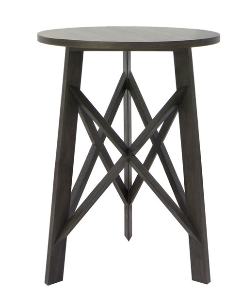 Crestview Collection Farmers Branch Burnished Round Acacia Wood Side Table CRST-CVFVR8237