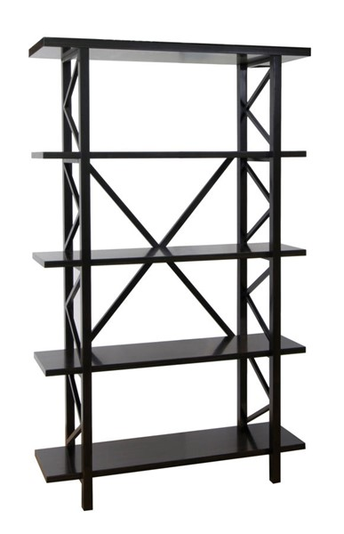 Crestview Collection Bentley Black Open Bookcase CRST-CVFVR8243