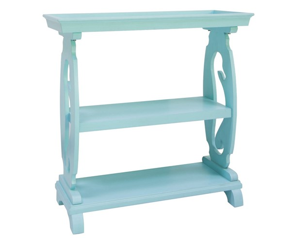 Crestview Collection Oceanside Turquoise Seahorse Table CRST-CVFVR8244