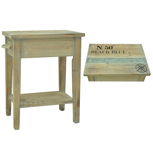 Crestview Collection Grand Isle Wood Chairside Table CRST-CVFZR1005