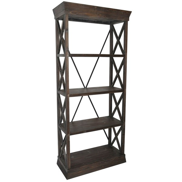 Crestview Collection Grand Junction Wood Bookcase CRST-CVFZR1051