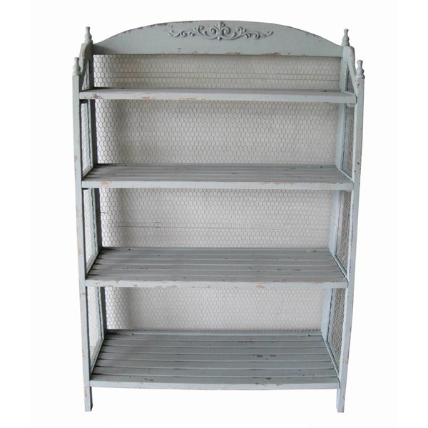 Crestview Collection Lydia Pale Grey Bookcases CRST-CVFZR1512