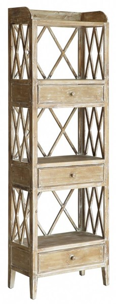 Crestview Collection Elegatn Wood Storage Shelf CRST-CVFZR1712