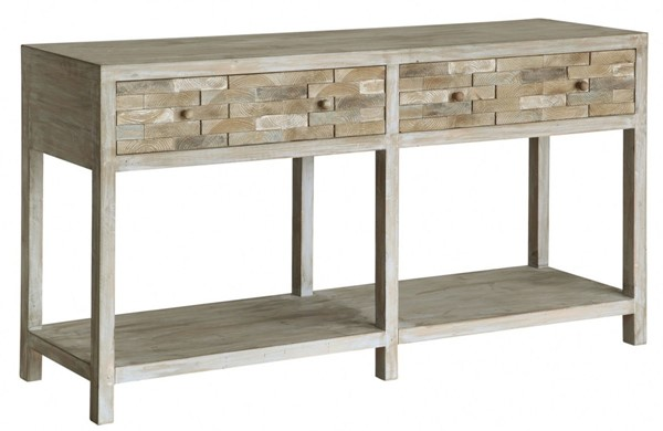 Crestview Collection Forrest Park Wood 2 Drawers Console Table CRST-CVFZR1716