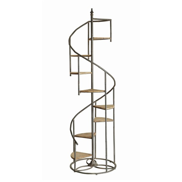 Crestview Collection Darby Metal Spiral Staircase CRST-CVFZR1721