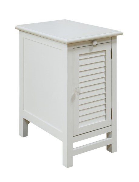 Crestview Collection Cape May White Chairside Table CRST-CVFZR1738
