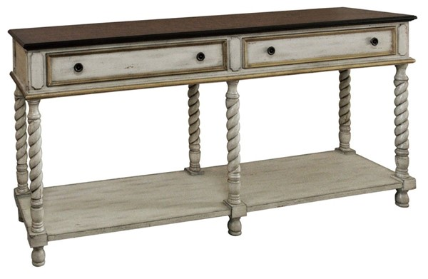 Crestview Collection Livingston Wood 2 Drawers Console Table CRST-CVFZR1869