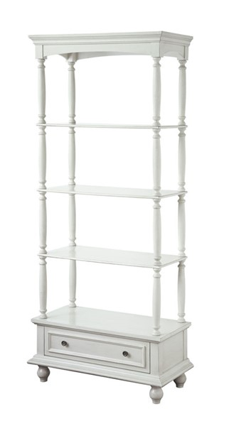Crestview Collection Antique White Etagere CRST-CVFZR1874