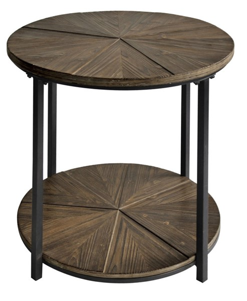Crestview Collection Jackson Rustic Wood End Table CRST-CVFZR1907
