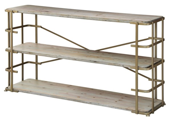 Crestview Collection Ava Silver 3 Shelves Console Table CRST-CVFZR1911