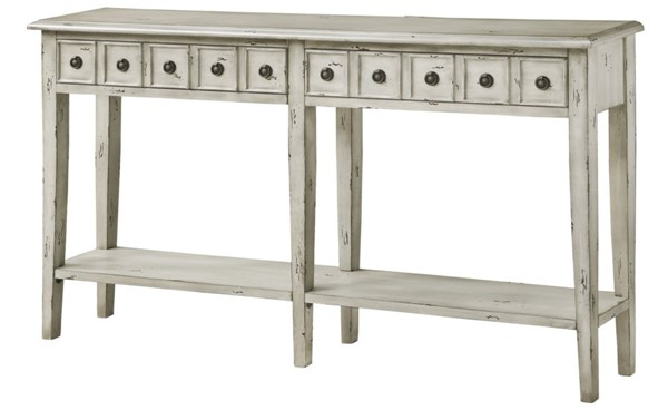 Crestview Collection Newcastle Antique White 2 Drawers Console Table CRST-CVFZR2144