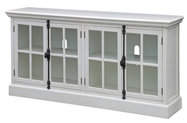 Crestview Collection Coventry White 4 Doors Media Console CRST-CVFZR2208