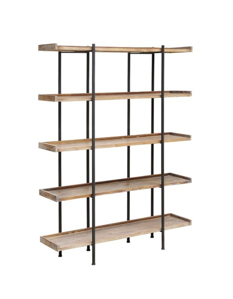 Crestview Collection Wingate Wood 4 Shelves Etagere CRST-CVFZR2246