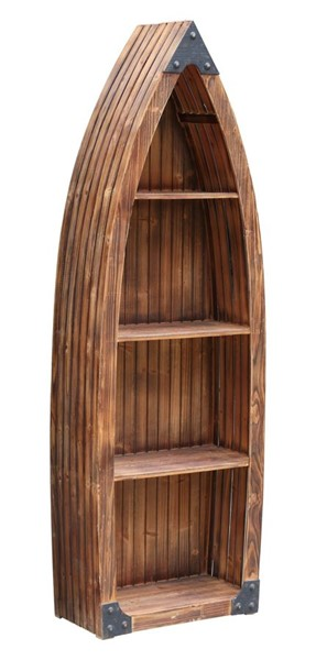 Crestview Collection Mountain Wood Canoe Bookcase CRST-CVFZR2252