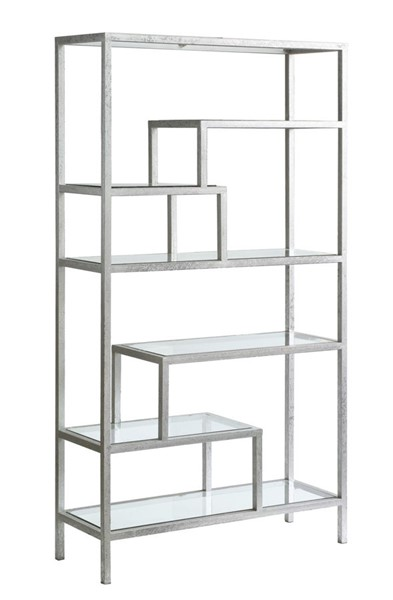 Crestview Collection Hollywood Silver Glass Etagere CRST-CVFZR2265