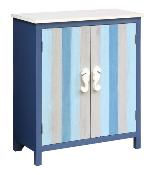 Crestview Collection Grey Blue 2 Doors Accent Cabinet CRST-CVFZR3536