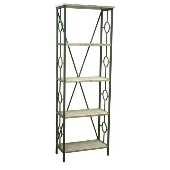 Crestview Collection Key Largo Antique White 5 Tier Etagere CRST-CVFZR3544