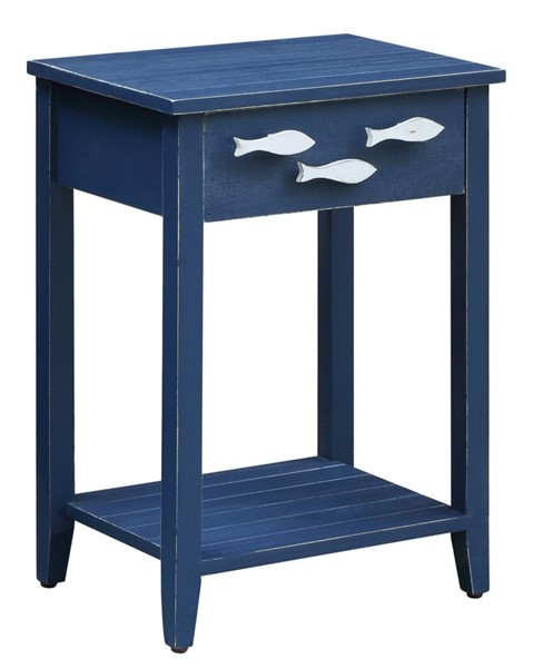 Crestview Collection Navy Nautical Accent Table CRST-CVFZR3562